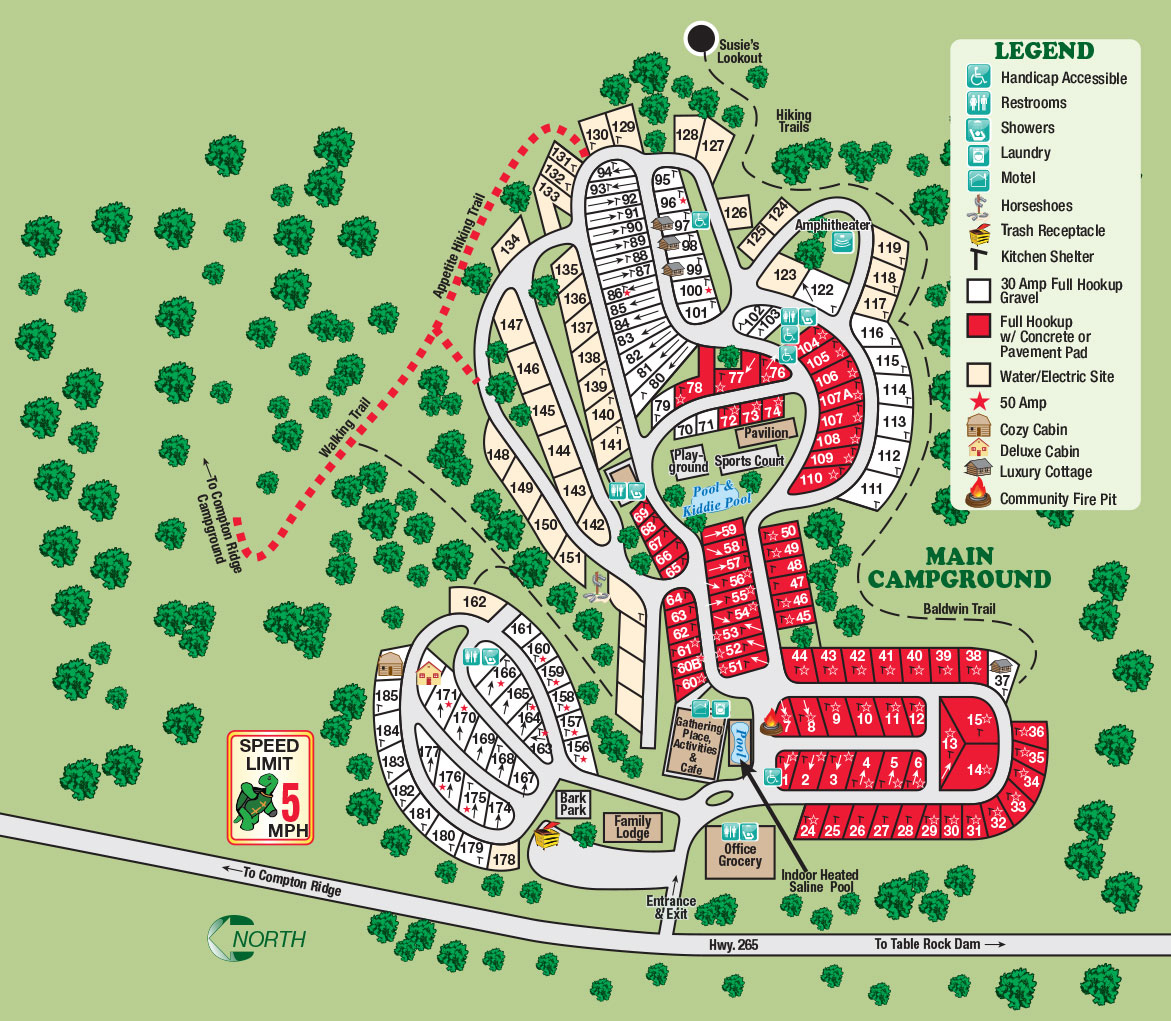Branson Ridge RV Resort - Resort Map